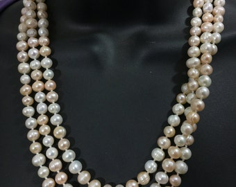 66 in. Cultured Pearl Hand-Knotted Necklace