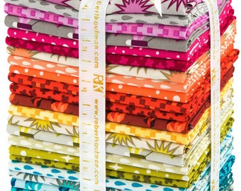 Robert Kaufman - Paintbox Basics Fat Quarter Bundle by Elizabeth Hartman / Rhoda Ruth and Pacific Prints and Blender Fabrics