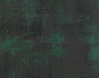 Moda Fabrics - Grunge Basics Christmas Green #30150 308 by BasicGrey / Dark Green with Lighter Green and Slight Gold
