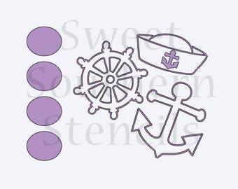 Nautical PYO Cookie Stencil