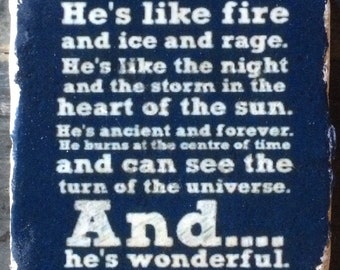 He's Wonderful DW Quote Coaster or Decor Accent