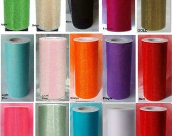 "12 Lot SHIMMER GLIMMER TULLE Fabric Spool Roll 6"" X 25 Yds Mix or Match Tutu Costume Wedding Bridal Bows Ribbon"