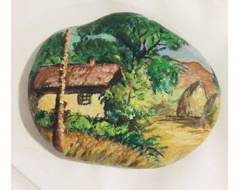 Vintage Hand Painted Garden Stone