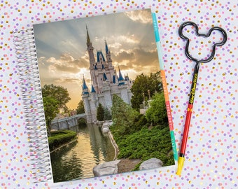 Disney World Erin Condren Life Planner Cover INSTANT DOWNLOAD - Cinderella Castle 9