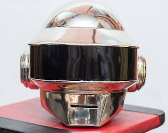 Xmas sale custom make Daft Punk Helmet Thomas NEW Metall-Chrome cover
