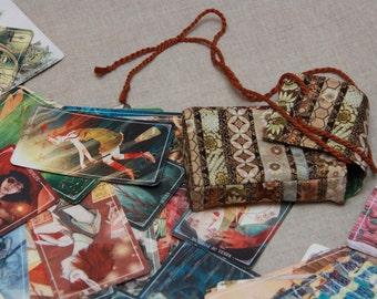 Tarot Bag Cotton Tarot Deck Bag Tarot Card Bag Tarot Purse Tarot Pouch Tarot Case Pochette de tarot Bolsa de Tarot Sacchetto Tarocchi