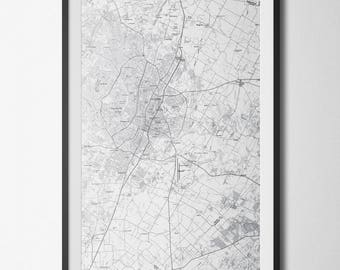 Austin, TX Map Poster 11x17 Light Digital File