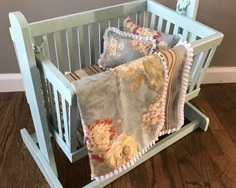 Doll Cradle - French Blue