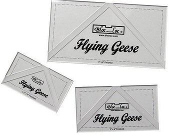 "UK SHOP - Bloc Loc 4"" x 8"" flying Geese Ruler"