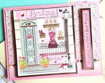 Boutique Window Shopping Card