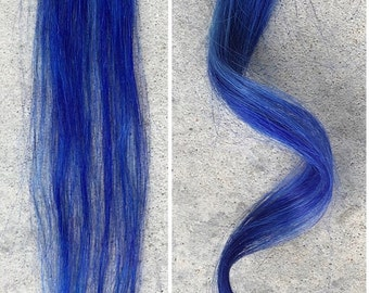 Blue Clip-In Human Hair Extension