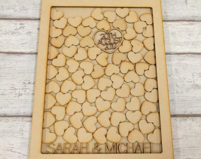 Personalised Wooden Guestbook Alternative