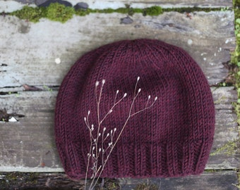 Garnet Knit Slouch Beanie