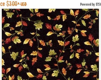 SALE Fall Fabric - Harvest Breeze, Black Fabric /  Harvest, Gold and Brown / Red Rooster 24680 / Fabric by the Yard, Fat Quarters / Cotton