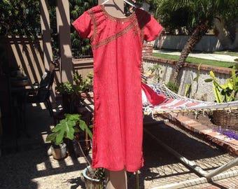 Vintage Red Indian long dress