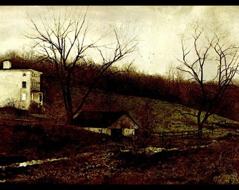 "Andrew Wyeth, Andrew Wyeth Print, Fine Art Print, Vintage Wyeth Print, American Artist, Wall Art, Wyeth Painting, ""Evening At Kuerner's"""