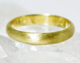 Irish & Recycled Etched D Profile 3mm Wedding Ring