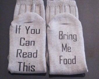 Bring me food socks - funny socks - funny gift for her - gift for foodie- stocking stuffer for her- secret Santa gift