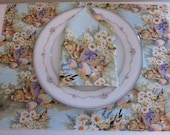 Easter Place Mats Set of 2 - Spring Place Mats - Floral Place Mats - Easter Table Linens - Spring Table Linens