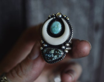 Warrior Ring | Double Stone | Made To Order | Please read description before purchase