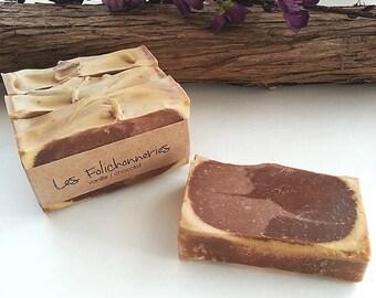 Vanilla chocolate handmade soap