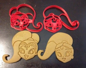 Shimmer and Shine Cookie Cutters. The heads of these genies in cookie cutter form. Throw a Shimmer & Shine Themed Birthday for your kids!