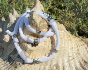 Bracelet, necklace, hair clips