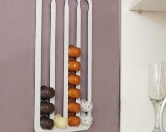 Abacus Pod Rack, a Nespresso coffee capsule holder & dispenser for your Nespresso pods.  Designed and made in Australia (FNW36).