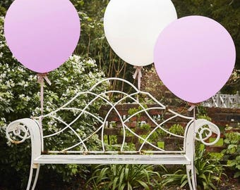 White & Pink 36 Inch Feature Balloons