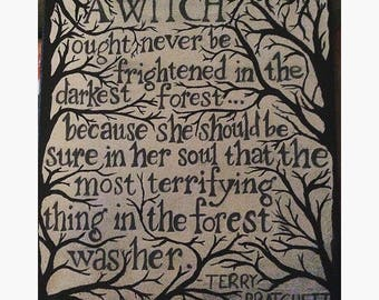 Terry Pratchett Witch Quote ~ Canvas ~ Witchcraft ~ Pagan ~ Magic ~ Fantasy ~ Book ~ Quote