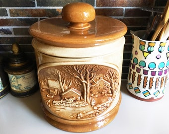 Vintage Cookie Jar Kitchen Canister Apothecary Jar Vintage Kitchen Ceramic Canister Vintage Container Ceramic Cookie Jar Hershey