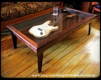 Shadow box table etsy for How to build a coffee table display case