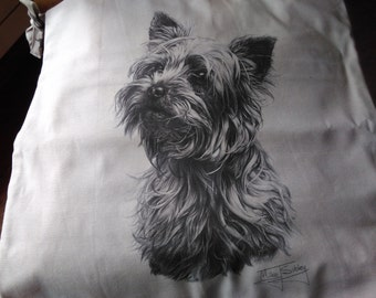 Yorkshire Terrier cushion cover