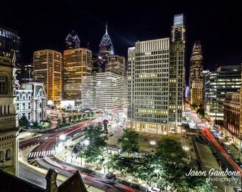 Philadelphia from Above | Philadelphia print, Philadelphia art, Philadelphia Skyline, Philadelphia poster, Philly print, Philly Art