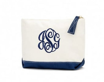 Monogrammed cosmetic bag ~ Small cosmetic bag
