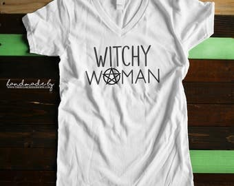 Witchy Woman | Witchy Woman Tee | Printed  tee |Witchy Woman T-Shirt | Witchy Shirt | Printed T-Shirt