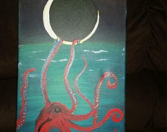 octopus wall art painting