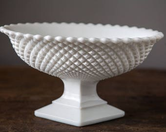 Westmoreland English Hobnail Milk Glass Footed Bowl