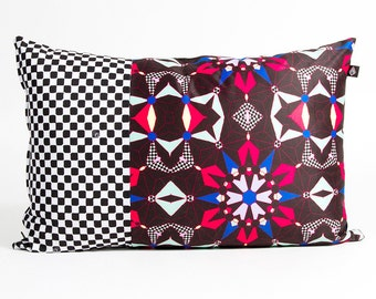 Rectangle cushion 40 x 60 cm motif Kalei manufactured in France and hand