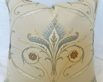 Empirio - Wesley Mancini - Ciel- Decorative throw Pillow Cover lumbar pillow Cover / Embroidered Linen / All Size