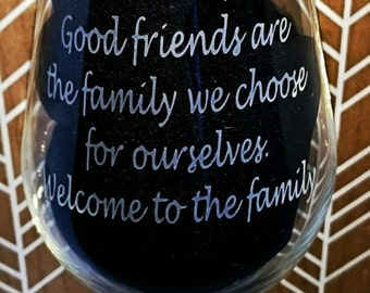 Engraved Wine Glass - Good Friend - New - Personalised - Handmade