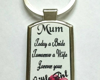 Mother of The Bride Keyring - New - Boxed