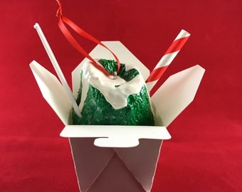 New Orleans Style Spearmint Snoball Ornament with Condensed Milk