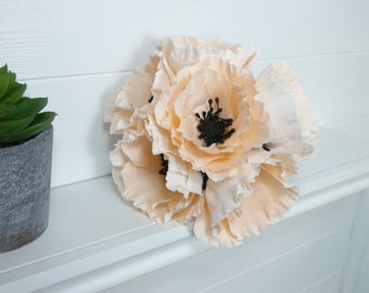 Flower Bouquet - choice of colours, 6 or 12 stems, paper flowers, paperflowers, bridal bouquet, wedding flowers, bridesmaid flowers,