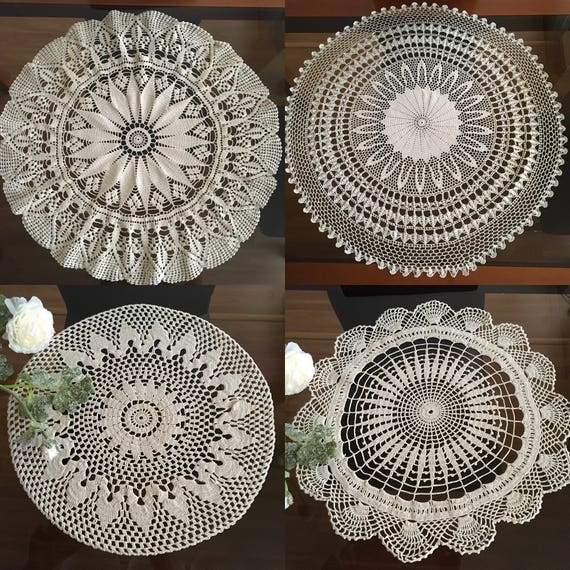 Large doily crochet Handmade crochet doilies table decoration Round crochet centerpiece Hand crocheted lace Coffee table setting Large doily
