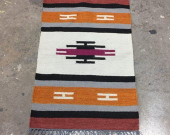 Native American Rug with Geometric Pattern in Sangria 2 x 3