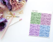 Prance -- Faux Glitter Headers -- Matte Planner Stickers