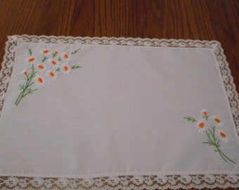 Handmade Daisy Placemats - Four