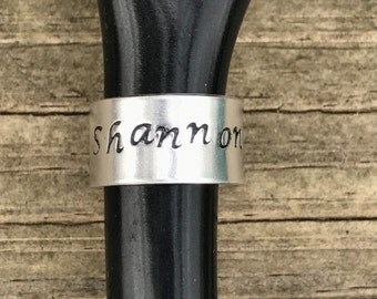 Hand Stamped Stethoscope ID name tag