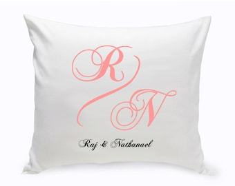 Personalized Couples Decorative Pillow - Throw Pillow - Elegant Monogram - Couch Pillow - Sofa Pillow - Decor Pillow - Couples Gift